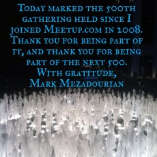 Thank you for 500 Meetups!